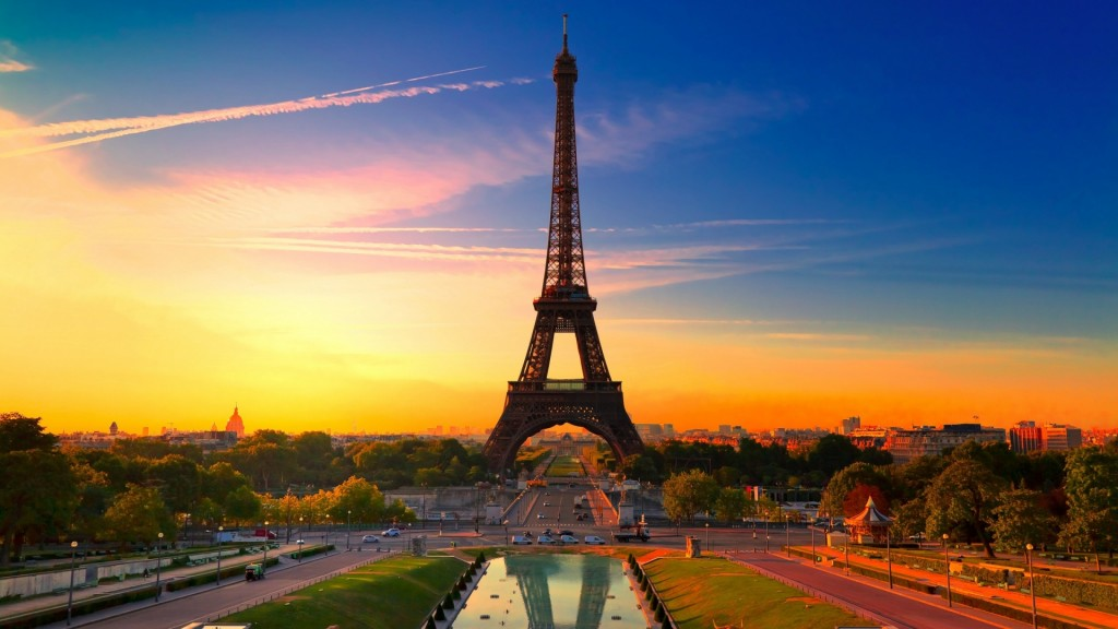Sunset-In-Paris-Wallpaper